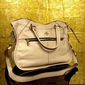 ORYANY Sarah Pebbled Leather Med Convertible Bag